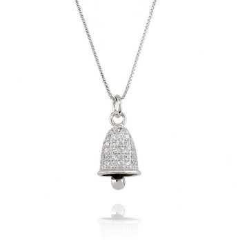 Campanella a pavè di zirconi in argento Alexia Gioielli Collane Donna RB-CL190AG