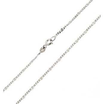 Catenina oro bianco maglia forzatina Zoppi Gioielli jewelry Catene e catenine CT220AUB