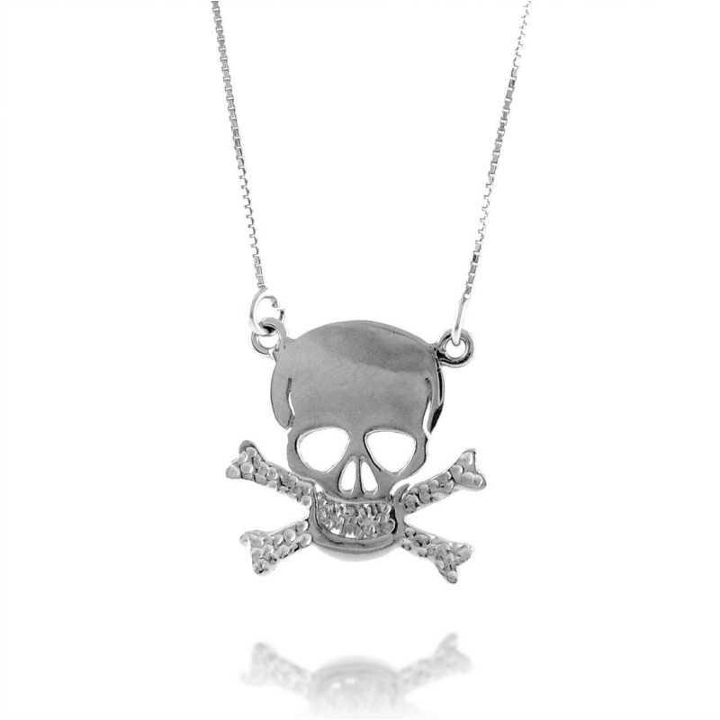Collana con teschio in argento Collane Uomo 25,00€ UC-CL15AG