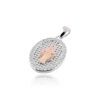 Medaglia Miracolosa rosè in argento e pietre  Croci e Medaglie RB-AG150MD