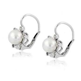 Orecchini in oro con perle e diamanti Zoppi Gioielli jewelry Orecchini Perle NORP657D12