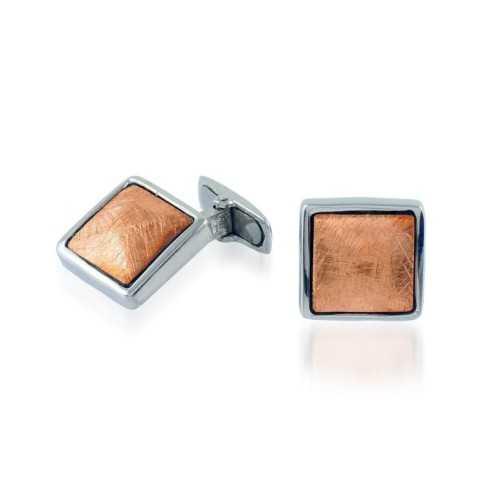 Gemelli da polso in argento ramato Puca Jewels Accessori Uomo MP-GM185AG/B