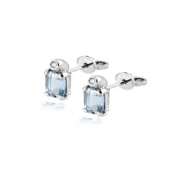 Orecchini in oro con acquamarina e diamante Zoppi Gioielli jewelry Orecchini oro diamanti IKIOR647/4