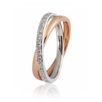 Fede Unoaerre 9.0 Per Sempre con diamanti a giro  Fedi collezione 9.0 024AFC011/0300