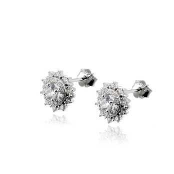 Orecchini in argento a punto luce fiore Zoppi Gioielli bijoux Orecchini Donna OR-S0369E