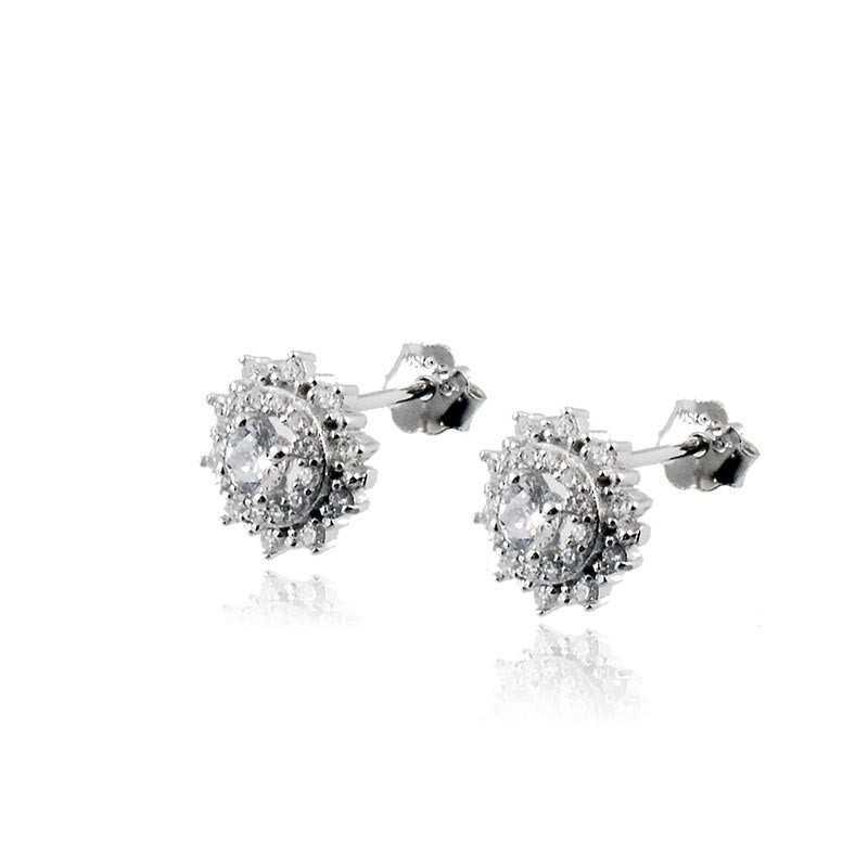 Orecchini Donna Orecchini in argento a punto luce fiore Zoppi Gioielli - Multibrand