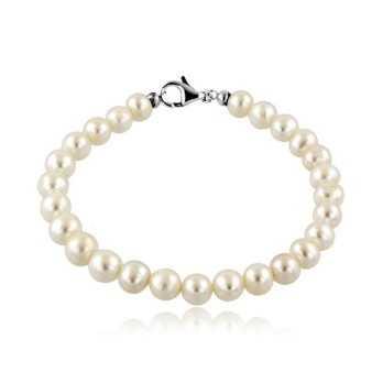 Bracciale con perle 8 mm terminali in oro Zoppi Gioielli jewelry Bracciali perle BRP100AU