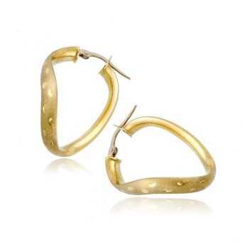 Orecchini Donna Orecchini ovali ad onda in oro giallo Zoppi Gioielli