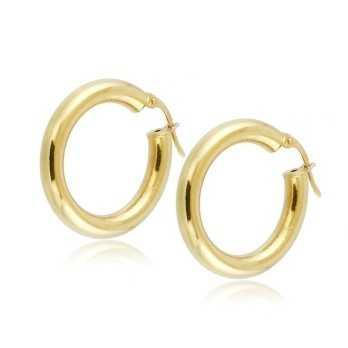 Orecchini a cerchio d.25mm in oro giallo Zoppi Gioielli jewelry Orecchini Donna ORC495AU