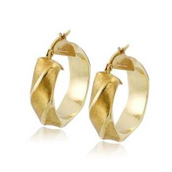 Orecchini a cerchio torchon d.26mm in oro giallo Zoppi Gioielli jewelry Orecchini Donna ORC445AUB