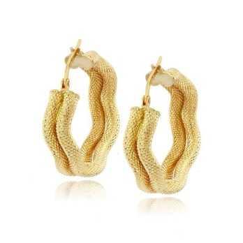 Orecchini a cerchio a doppia canna ondulata in oro Zoppi Gioielli jewelry Orecchini Donna ORC465AU