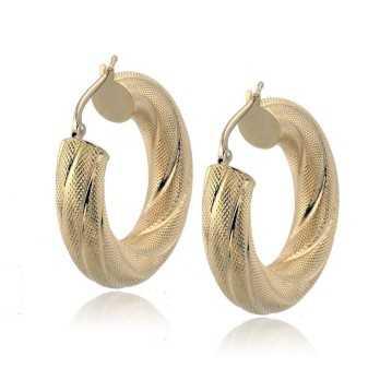 Orecchini a cerchio con decoro in oro giallo Zoppi Gioielli jewelry Orecchini Donna ORC1060AU