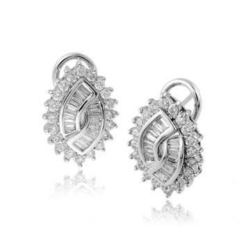 Gioielli con Diamanti Orecchini a toppe in oro e diamanti ct.1,27