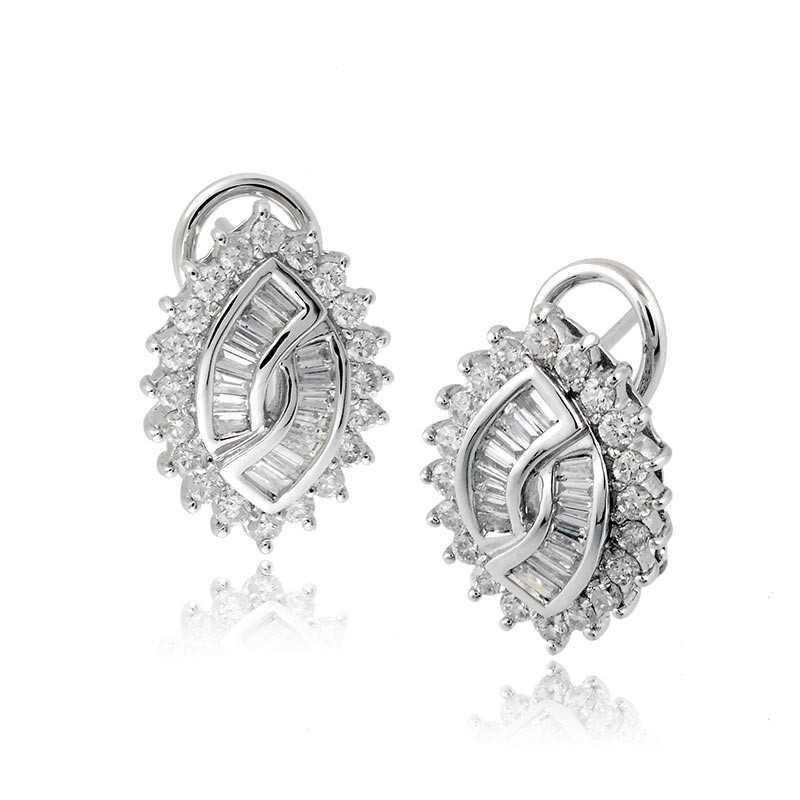 Orecchini Orecchini a toppe in oro e diamanti ct.1,27 Zoppi Gioielli