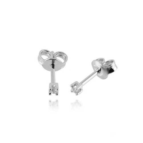 Orecchini punto luce in oro e diamanti ct.0,04 Roger gems gioielli Orecchini oro diamanti RG-04OR1
