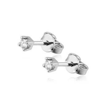 Gioielli con Diamanti Orecchini punto luce in oro e diamanti ct.0,12 Roger gems gioielli
