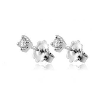 Orecchini Orecchini punto luce in oro e diamanti ct.0,14 Roger gems gioielli