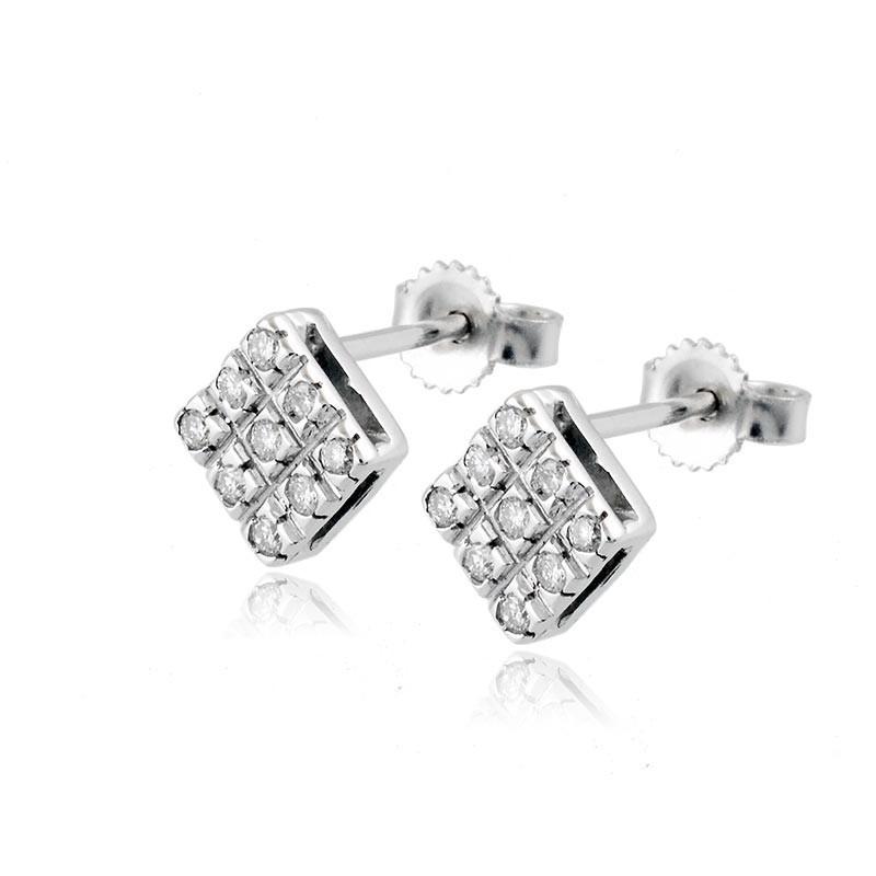 prezzi incredibili scegli il più recente prezzo basso Orecchini toppe in oro e diamanti ct.0,26