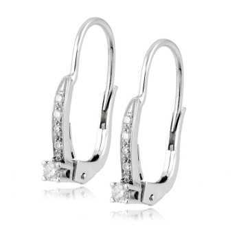 Gioielli con Diamanti Orecchini monachella in oro e diamanti ct.0,12 Roger gems gioielli