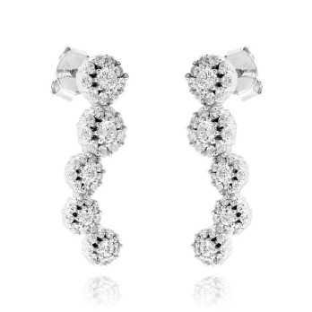 Orecchini Donna Orecchini con fiorellini in argento e pietre Zoppi Gioielli - Multibrand
