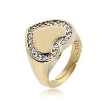 Anello da mignolo a cuore in argento dorato e pietre Alexia Gioielli Anelli Donna RB-ANM36AG