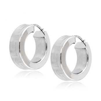 Orecchini cerchio squadrato oro bianco d.24mm Zoppi Gioielli jewelry Orecchini Donna OR865AUB