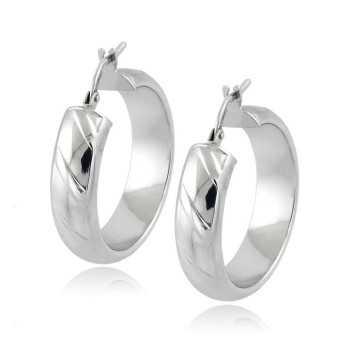 Orecchini cerchio d.25mm in oro bianco Zoppi Gioielli jewelry Orecchini Donna OR410AUB