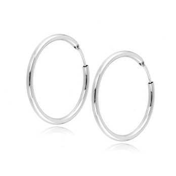 Orecchini unisex a cerchio d.29mm in oro bianco Zoppi Gioielli jewelry Orecchini Donna ORX370AUB