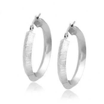 Orecchini a cerchio d.29mm in oro bianco Zoppi Gioielli jewelry Orecchini Donna OR325AUB