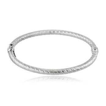 Bracciale rigido in oro bianco puntellato Zoppi Gioielli jewelry Bracciali Donna BRR670AUB
