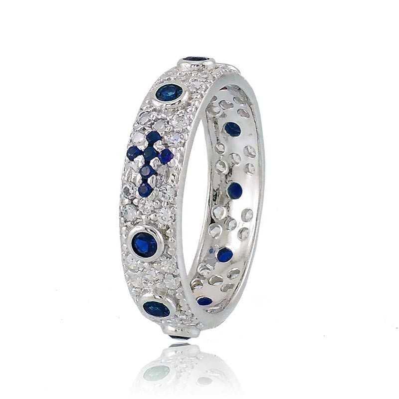 Anello a rosario in argento pietre blu Alexia Gioielli Anelli religiosi RB-AG240ANRB