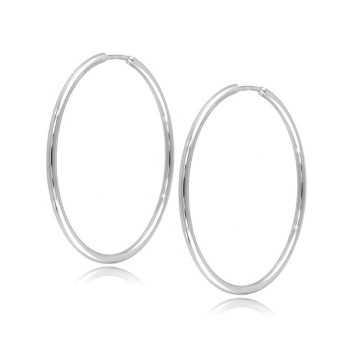 Orecchini a cerchio d,37mm in oro bianco Zoppi Gioielli jewelry Orecchini Donna ORC340AUB