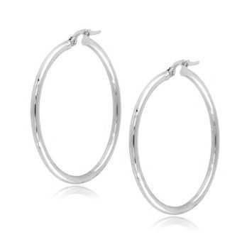 Orecchini a cerchio d,35mm in oro bianco Zoppi Gioielli jewelry Orecchini Donna ORC160AUB