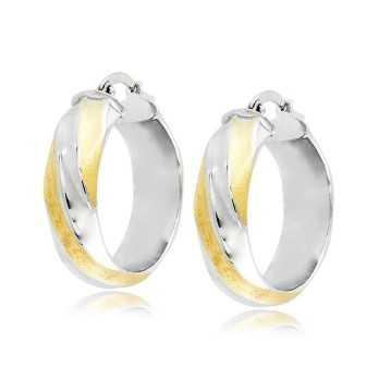 Orecchini cerchio torchon in oro bicolore Zoppi Gioielli jewelry Orecchini Donna ORC380AUBG