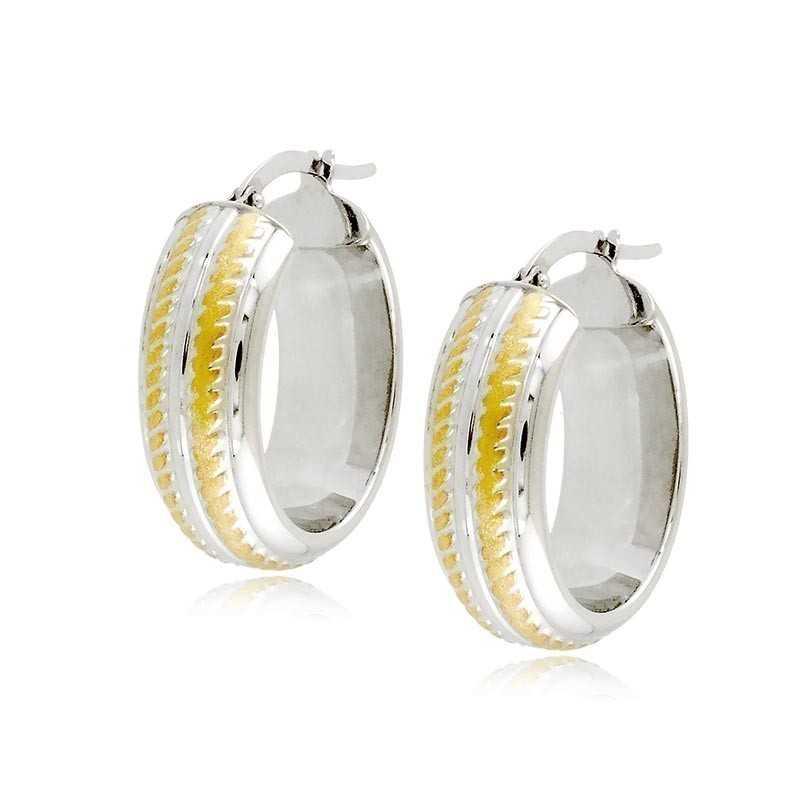 Orecchini cerchietto ovale in oro biancoZoppi Gioielli Orecchini Donna 299,00€ ORC355AUBG