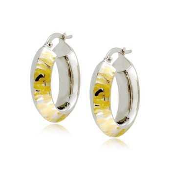 Orecchini Donna Orecchini cerchio ovale in oro bianco Zoppi Gioielli
