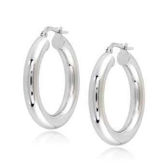 Orecchini cerchio 28mm liscio lucido Zoppi Gioielli jewelry Orecchini Donna ORC430AUB