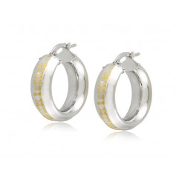 Orecchini cerchio d.23mm oro bianco Zoppi Gioielli jewelry Orecchini Donna ORC345AUBG