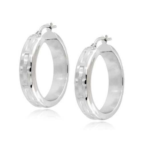 Orecchini cerchio d.25mm oro bianco decorati Zoppi Gioielli jewelry Orecchini Donna ORC405AUB