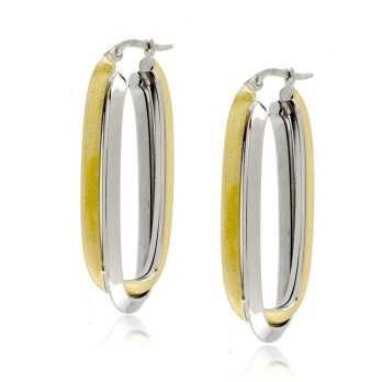 Orecchini pendenti rigidi in oro bicoloreZoppi Gioielli Orecchini Donna 465,00€ OR625AUBG