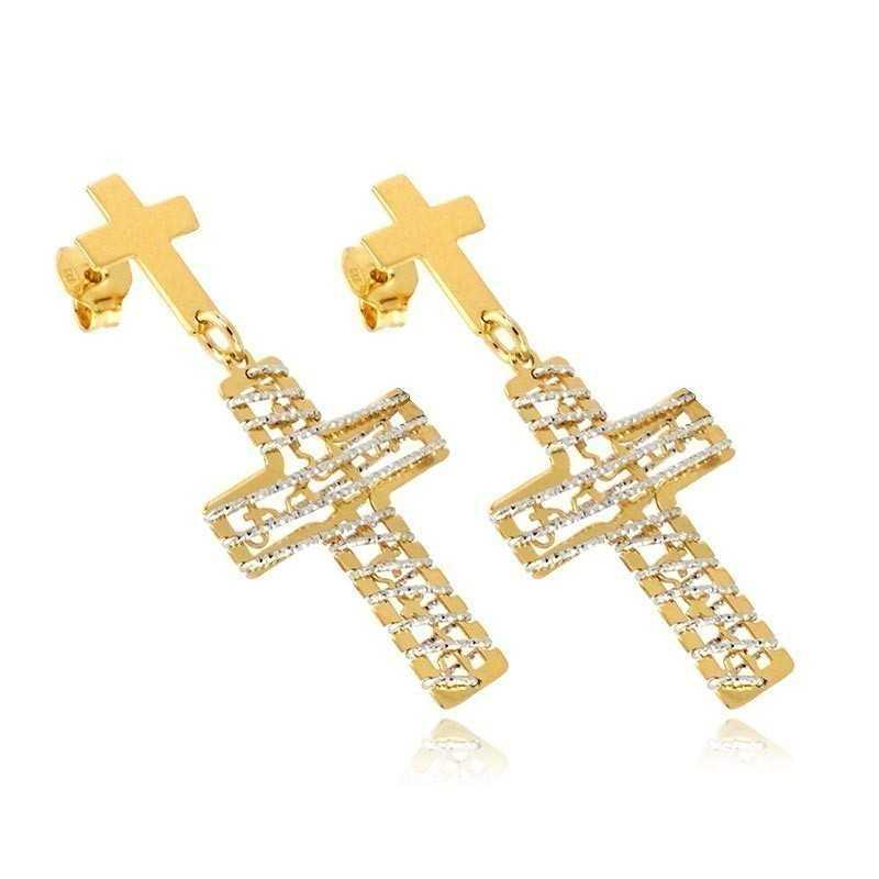 Orecchini Orecchini con croci in argento dorato Alexia Gioielli