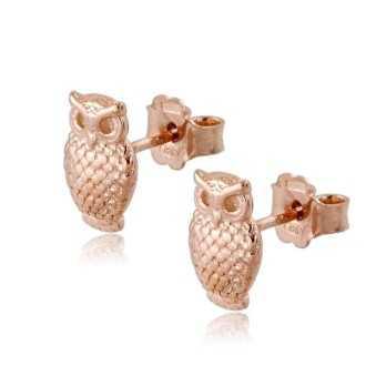 Orecchini Donna Orecchini a gufo in argento rosa Zoppi Gioielli - Multibrand