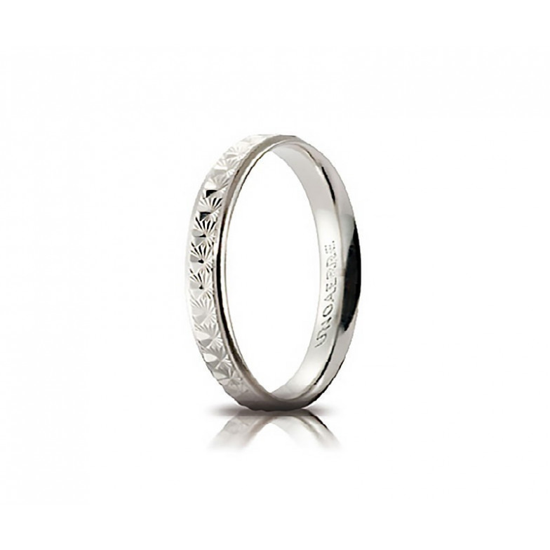 Fedina comoda unoaerre in oro bianco AC288 Unoaerre Italian jewellery Fedine in oro 30-AC288B