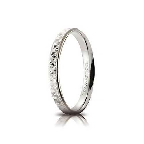 Fedina comoda unoaerre in oro bianco AC288Unoaerre Italian jewellery Fedine 148,00€ 30-AC288B
