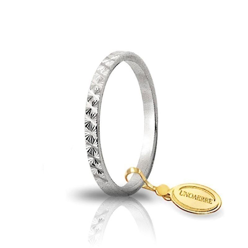 in vendita d8056 06b52 Fedina unoaerre in oro bianco AF269B