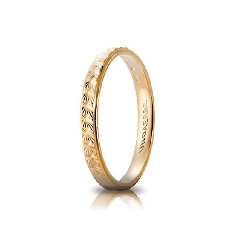 Fedina comoda unoaerre in oro AC288G Unoaerre Italian jewellery Fedine in oro 30-AC288G