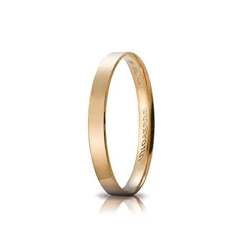 Fedina comoda unoaerre in oro AC287G Unoaerre Italian jewellery Fedine in oro 30-AC287G