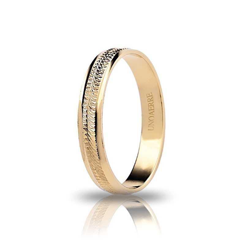 Fedina unoaerre in oro AF294G Unoaerre Italian jewellery Fedine in oro 1R-AF294G