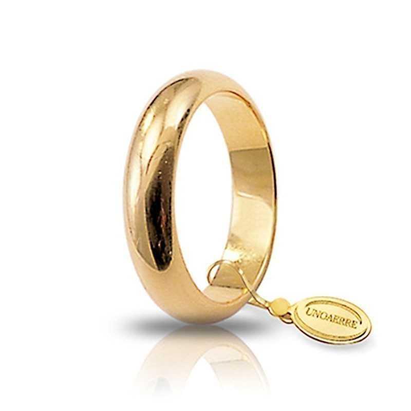 Fede classica unoaerre 80AFN1G Unoaerre Italian jewellery Fedi Classiche 80AFN1