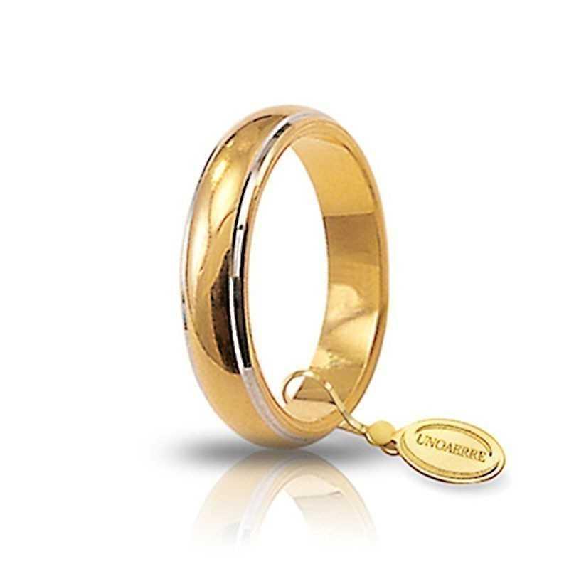 Fede classica unoaerre 70AFN1/01 bicoloreUnoaerre Italian jewellery Fedi Classiche 430,00€ 70AFN1/01